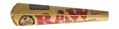 72 RAW Classic Rolling Paper Cones Natural Hemp - 12 packs of 6 cones by Raw