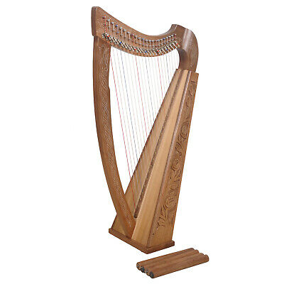 Muzikkon 22 String Harp Walnut ,Celtic Irish harp,Irish Lever Harp