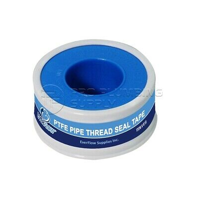 Everflow 810 PTFE Tape Seal Threads for Plumbers, White 1/2 in. x 260 in.