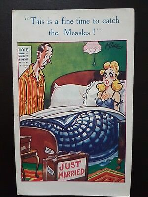 "Inter-Art Comique Postcard No 457 ""This is a fine time to catch the Measles"""
