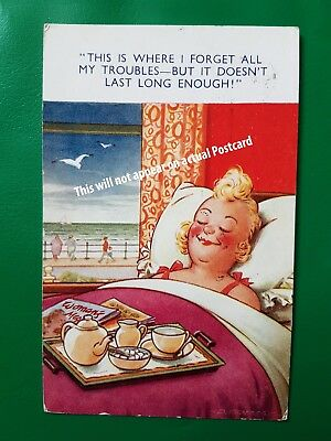 "Comic Postcard Bamforth Seaside comic series 10355 ""THIS IS WHERE I FORGET ALL.."
