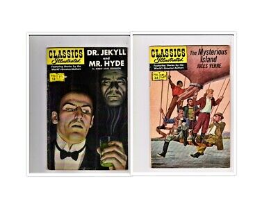 CLASSICS ILLUSTRATED - DR.JEKYLL AND MR.HYDE  APRIL 1944  # 13  HRN 167 doctor