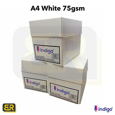 A4 White 75gsm Plain Paper Printing Copier Laserjet Inkjet Printer 1-5 Reams