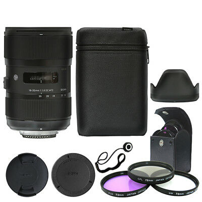 Sigma 18-35mm f/1.8 DC HSM Art Lens for Nikon + Deluxe Accessory Kit
