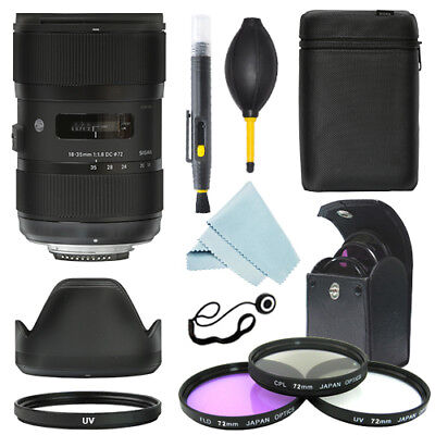Sigma 18-35mm f/1.8 DC HSM Art Lens for Nikon + Filter Kit + Accessory kit