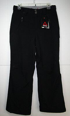 NWT GERRY Mens Black Zip Fly w Pockets Lined Snow Tech Ski Snow Pants Small