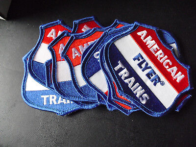 Lot of 11 Embroidered Patches American Flyer Trains