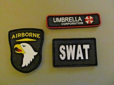 Resident Evil (Umbrella Corporation) Lot of 3 Rubber Velcro Patches (NEW)