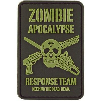 Zombie Apocalypse Response Team Patch Hook & Loop Tactical Morale Airsoft Badge
