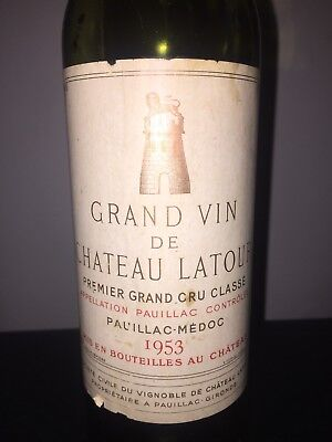 1953 Grand Vin De Chateau Latour Grand Cru Classe Empty Bottle