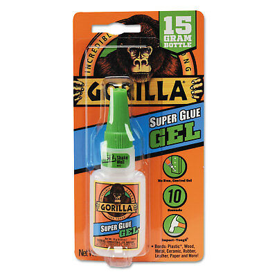 GORILLA GLUE COMPANY Instant Bond Superglue, 15 g Bottle, Clear