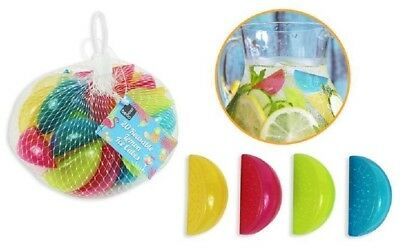 Reusable Colourful Lemon Shape Ice Cubes Pack Of 20 - Quality Uk Stock