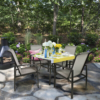 Barton 5 Piece Outdoor Patio Dining Table and Chair Set Outdoor Power Coated