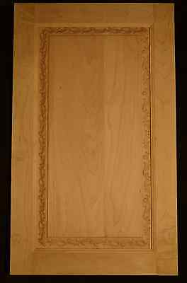 Custom Cabinets Door. Carved Raised Panel. Solid wood. $65.99 per sq/ft