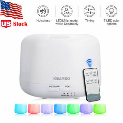 300ML 7 LED Humidifier Air Aroma Essential Oil Diffuser Aromatherapy Atomizer US