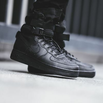 NEW Nike SF AF1 Special Forces Field Air Force One 1 TRIPLE BLACK 864024-003
