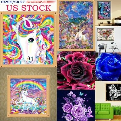 Full Drill DIY 5D Diamond Painting Embroidery Cross Crafts Stitch Home Decor USA