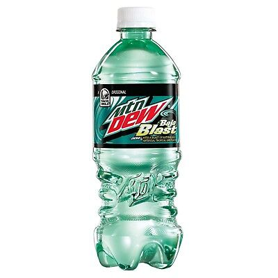 Mountain Dew Baja Blast 20oz (2018 Limited Release) - Free 2 Day Shipping!