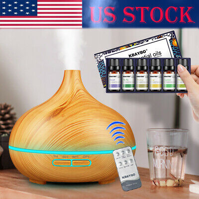 300ml Electric Air Humidifier Essential Oil Diffuser Mist Maker for Home-Wood US