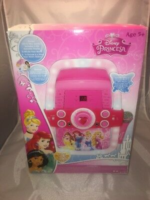 Disney Princess Flashing Lights Fairy Tale Karaoke Machine - Includes 2 Tracks