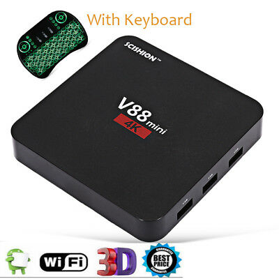 SCISHION V88 Mini Smart TV Box RK3229 3D Quad-Core Android 6.0 1GB+8GB+KEYBOARD