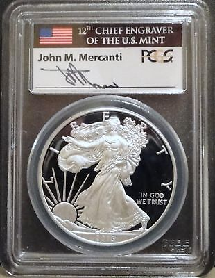 2013-W Proof American Silver Eagle - PCGS PR69 DCAM - 1st Strike Mercanti Label