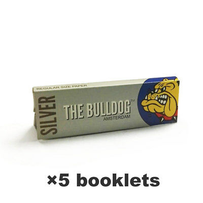 BULLDOG Hemp Rolling Papers 70*36mm 5 Booklets=250 leaves smoking