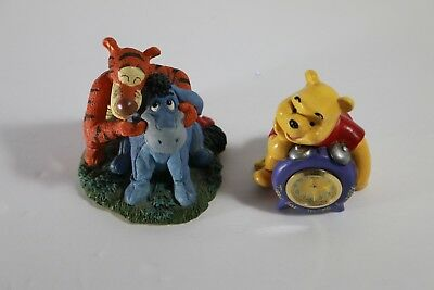 Rare Disney Winnie The Pooh & Eeyore Tiger Clock this is what smiling feels like
