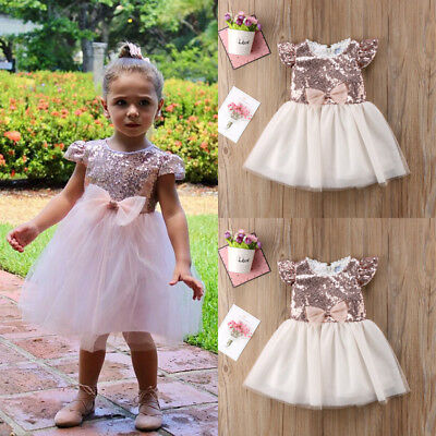 Toddler Baby Kids Girls Party Princess Dress Tulle Lovely Pageant TuTu Dresses K