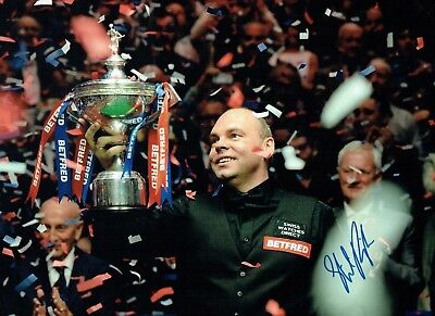 Stuart BINGHAM Signed Autograph 16x12 Photo D World SNOOKER Champion AFTAL COA