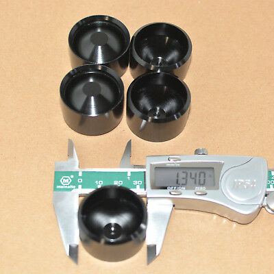 1PC D cell anodized gloss black Aluminum dry storage cups