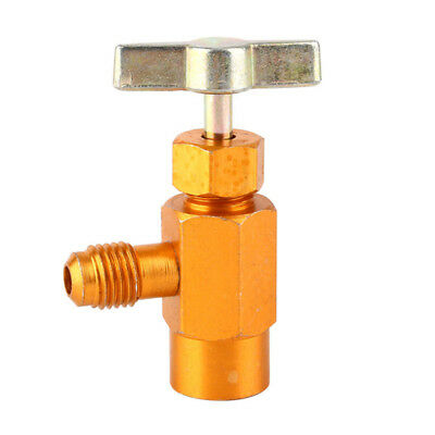 "A/C R134a Refrigerant Can Bottle Tap Tapper Opener Connector 1/4"" SAE 1/2"" Valve"