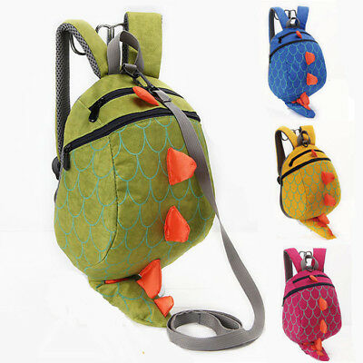 Baby Toddlers Kids Dinosaur Safety Harness Bag Backpack Reins Strap Walker Gift