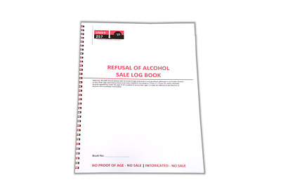refusal of alcohol sale log book no proof of age no sales
