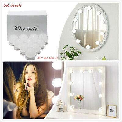 Hollywood LED Vanity Mirror Light Kit for Makeup Dressing with Dimmer, 10 Bulbs