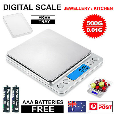0.01-500g Kitchen Food jewellery Scale Digital Electronic Balance Weight Postal