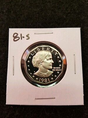 1981-S Us Cameo Proof Susan B Anthony Dollar From Us Proof Set
