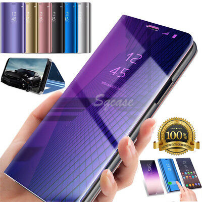For Huawei P20 Pro/Lite 2018 360° Clear View Case Cover Mirror Flip Stand Lot