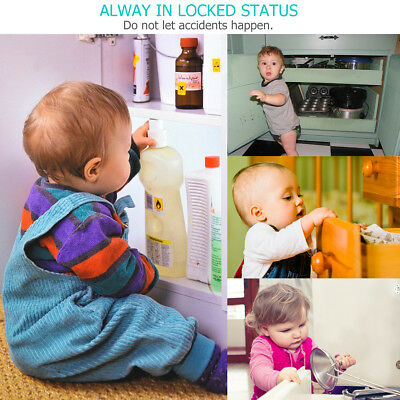 Invisible Magnetic Baby Child Pet Proof Cabinet Cupboard Door Drawer Safety Lock