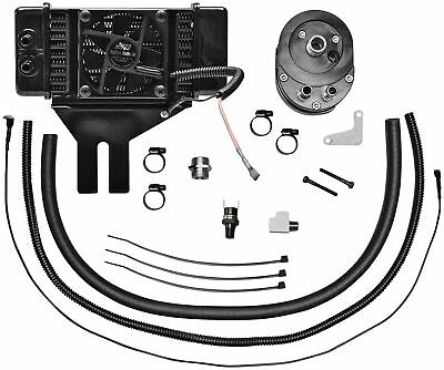 Jagg 751-FP2500 Horizontal Low-Mount 10 Row Fan-Assisted Oil Cooler Kit - Black