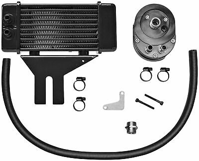 Jagg 750-2500 Horizontal 10 Row Oil Cooler - Low Mount - Black
