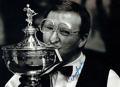 Dennis TAYLOR 2018 Signed Autograph 16x12 SNOOKER Photo Crucible AFTAL COA