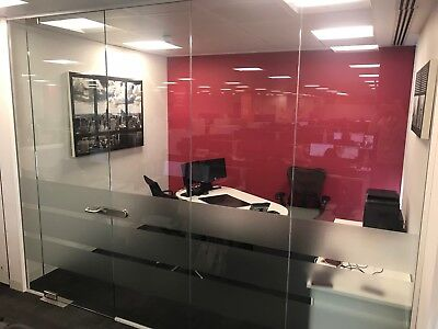 Various Full Height Floor to Ceiling Glass Walled Partitions and Doors