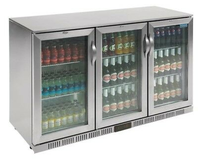Polar Commercial Hinged Triple 3 Door Bottle Display Cooler Fridge Chiller Beer