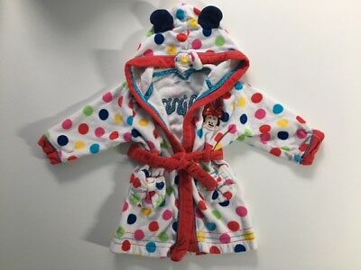 Girls Minnie Mouse Dressing Gown 18-24 months