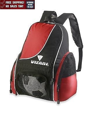 a12f7c214 Soccer Bag Backpack Youth & Kids All Sports Gym Equipment Tote Football Red  New