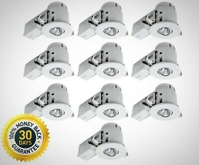 Globe Electric 4 In White Dimmable Recessed Lighting Kit 10 Pack Light New