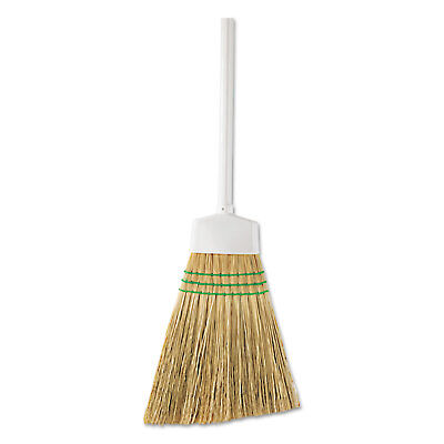 """BUTLER HOME PRODUCTS Corn Angle Broom, 12"""" Bristles, 54"""", Wooden Handle, White"""