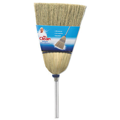 """BUTLER HOME PRODUCTS Deluxe Corn Broom, 17"""" Bristles, 55"""", Wood Handle, White"""
