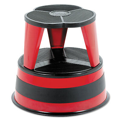 "Cramer Kik-Step Steel Step Stool, 350 lb cap, 16"" dia. x 14 1/4h, Red"